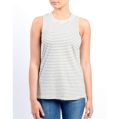 Honey Punch STRIPED LOW ARMHOLE TANK
