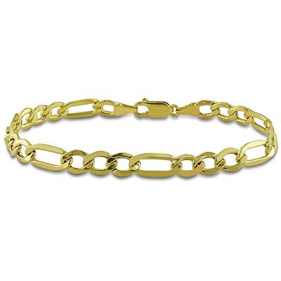 Men's Curb Chain Bracelet in 10k Yellow Gold