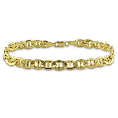 Men's Mariner Chain Bracelet in 10k Yellow Gold