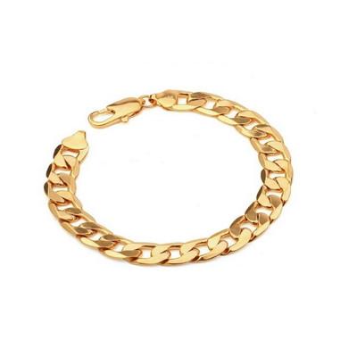 Men's Gold Plated Link Bracelet