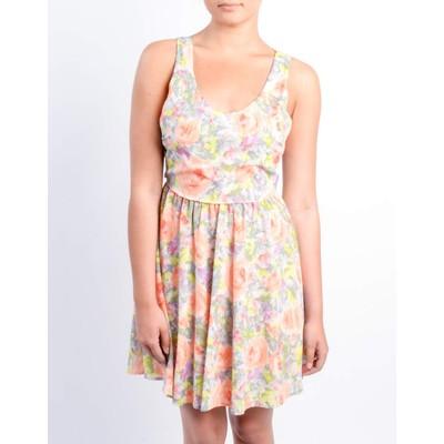 Lush ALINE FLORAL PRINT DRESS