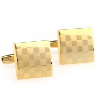 Elite Gold Small Checker Board Style Cufflinks