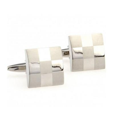 Elite Silver Checker Board Cufflinks
