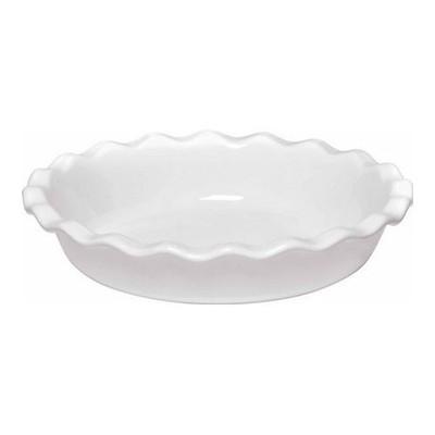 """Pie Plate - 10½"""" - Ruffled - White"""