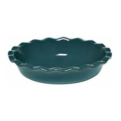"Pie Plate - 10½"" - Ruffled - Blue"