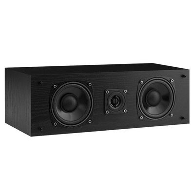 Fluance SXC-BK High Definition Two-way Center Channel Speaker for Home Theater Surround Sound Systems
