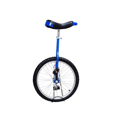 "20"" Unicycle with Stand Blue"