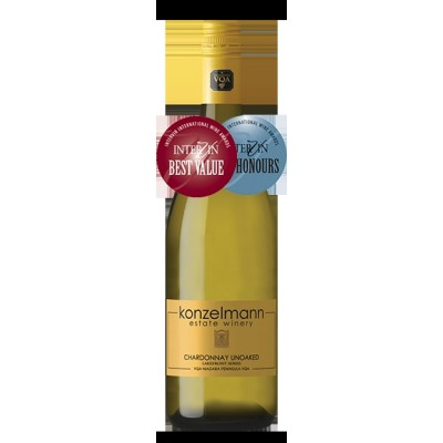 Chardonnay Un-Oaked, Konzelmann Estate Winery 2016 - Case of 6 White Wines