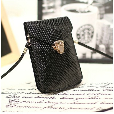 Designer Cross Body Wallet - Black Color