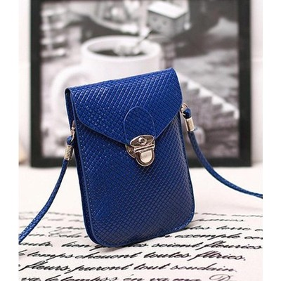 Designer Cross Body Wallet - Dark Blue Color