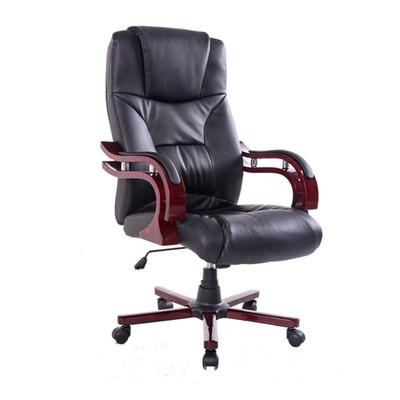 Wood High Back Executive Swivel Ergonomic Office Chair Black
