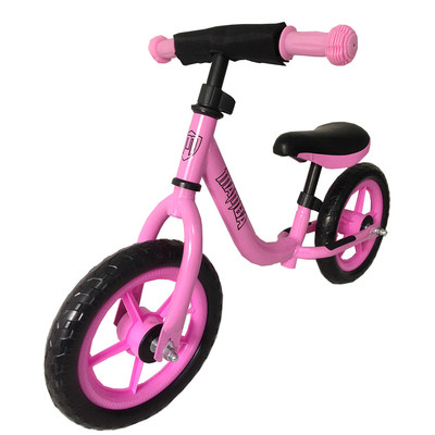 Girls Sporty Pink Balance Bike by Mamba with Handlebar Pad