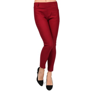 Luxanne Spring and summer Flavored Two Size Burgundy Jegging