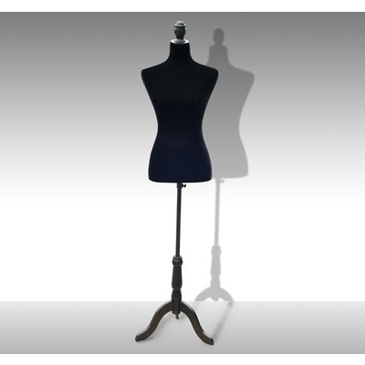 "Dress Form Female Tailor Mannequin Stand Display 26"" Waist Black"