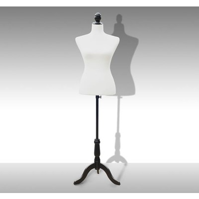 "Dress Form Female Tailor Mannequin Stand Display 26.8"" Waist White"