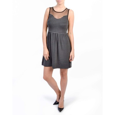 ONLY       ELLA STRIPED DRESS WITH MESH