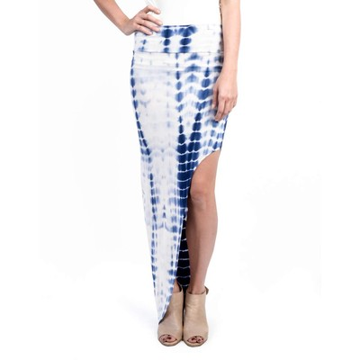 A3 Design TIE DYE ANGLED MAXI SKIRT