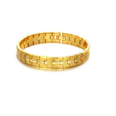 Men's 18k Gold Plated Hematite Bracelet