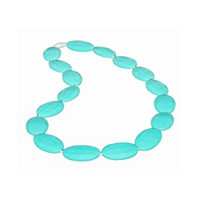 Simply Chic Teething Necklace - Turquoise