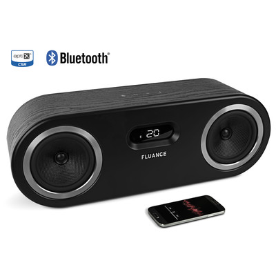 Fluance Fi50 Two-Way High Performance Wireless Bluetooth Premium Wood Speaker System with aptX Enhanced Audio (Black Ash)