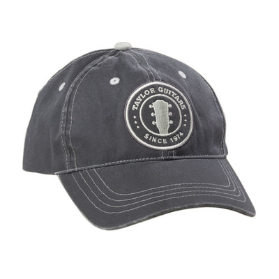 Taylor Peghead Patch Cap - Grey, S/M - Taylor Guitars - Taylorware, Home and Gifts - 00165