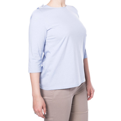Poly/Cotton Short Sleeve Backsnap Top -Lavender