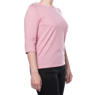 Poly/Cotton Short Sleeve Backsnap Top - Rosewood