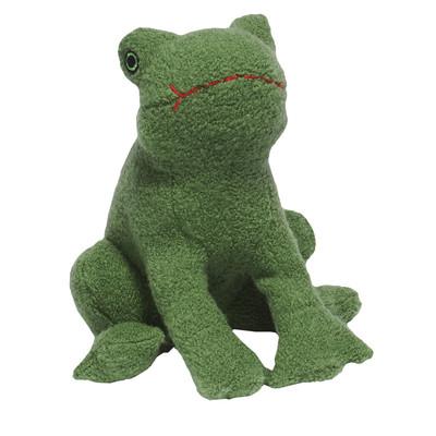 Jax & Bones Wool Frog Dog Toy