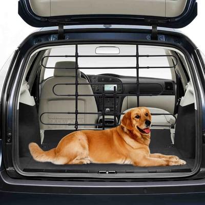 Dog Partition Pet Car Barrier  Safety Gate for Vehicles Black