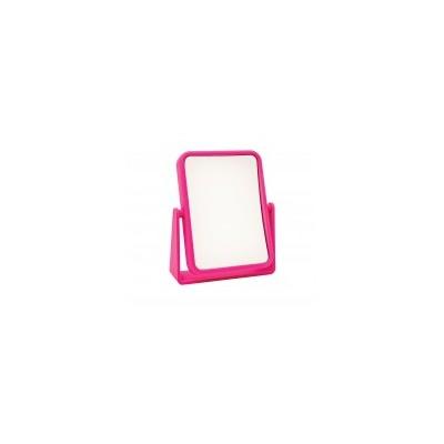 Soft Touch Rectangular Mirror - Pink