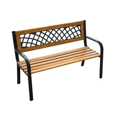 "47"" Lattice Patio Garden Park Seat Bench Long Chair"