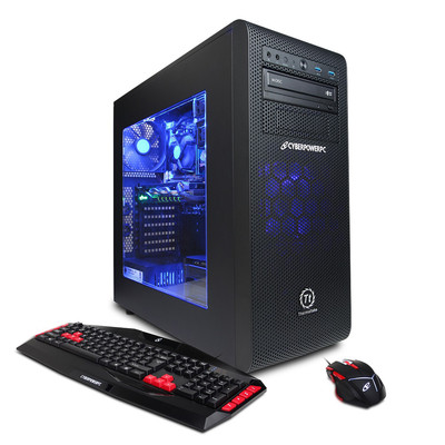 CYBERPOWERPC Gamer Ultra GUA570 AMD FX-8320 3.5GHz CPU, 16GB DDR3, NVIDIA GTX960 2GB, 2TB HDD, 24X DVD+-RW & Win 10 Home 64-Bit, Limited 1-Year Warranty