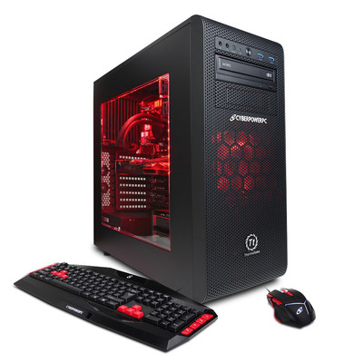 CYBERPOWERPC Supreme Liquid Cool SLC8600 w/ AMD FX-9590 4.7GHz CPU, 16GB DDR3, AMD R9 380 4GB, 2TB HDD, 128GB SSD, 24X DVD+-RW & Win 10 Home 64-Bit, Limited 1-Year Warranty