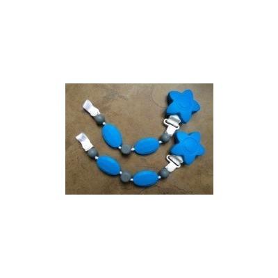 2 PACK Pacifier Clip - Boy