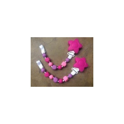 2 PACK Pacifier Clip - Girl