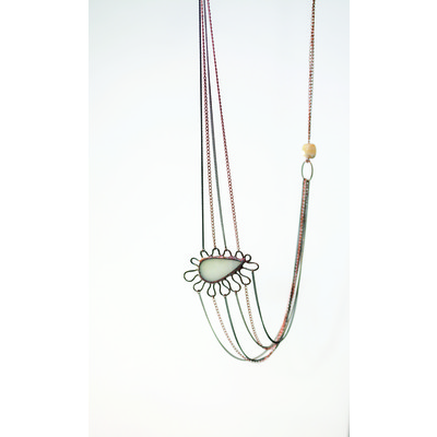 Lavya Collection 'Agate Stone' Adjustable Necklace