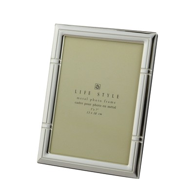 Silver Plated Reed Life Style Metal Photo Frame, 5 X 7