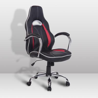 High Back Race Car Ergonomic Adjustable Office Chair Black Red