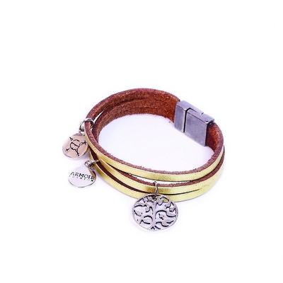 Astral Collection 'Tree Of Life Charm' Leather Bracelet