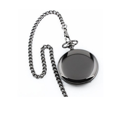Stainless Steel Black Polished Pocket Watch