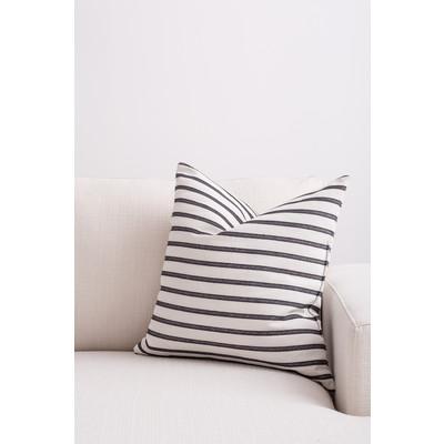 Designer Throw Cushion -  Off White  -  Black