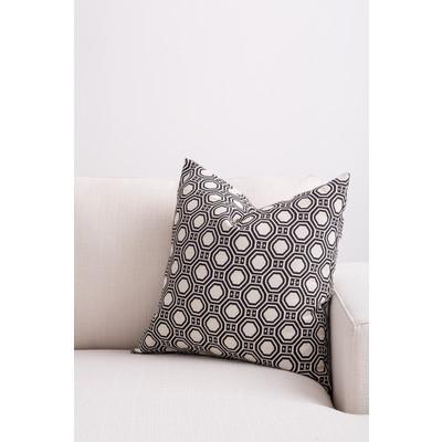 Designer Throw Cushion -  Black -  Beige