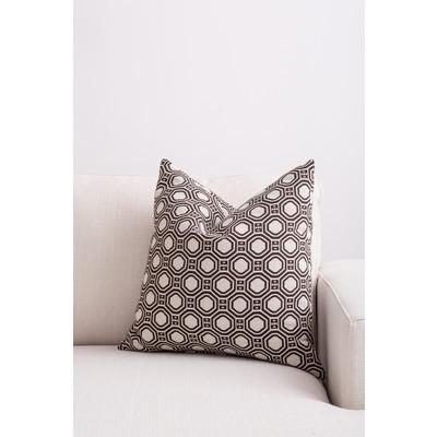 Designer Throw Cushion - Brown - Beige
