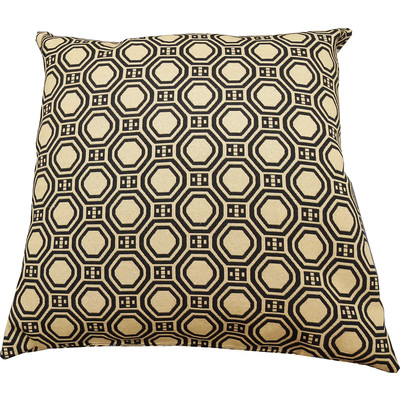 Designer Throw Cushion -  Black -  Gold