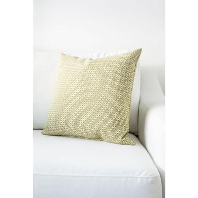 Designer Throw Cushion - Light Geen - Light Beige