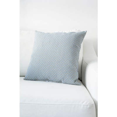 Designer Throw Cushion - Light Blue - Light Beige