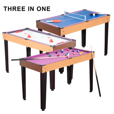 3 in 1 Multi-use Mini Games Table Tennis Billiard Pool Air Hockey Set