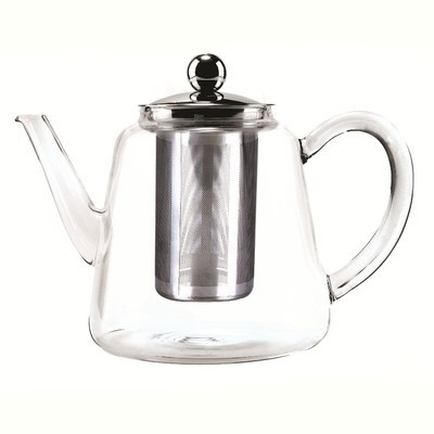 GLASS TEA POT WITH STAINLESS STEEL INFUSER, 800ML, TALL