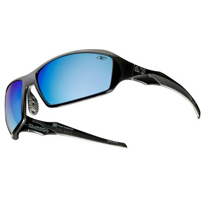 RUSH - Polished Black with See Blue Polarized+ Lens
