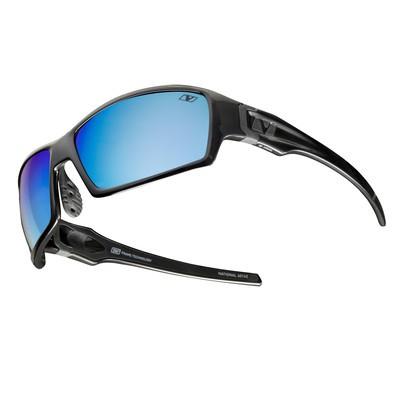 NATIONAL - Polished Black with Sea Blue Polarized+ Lens